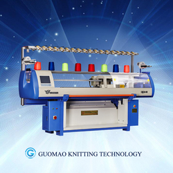 Computerized flat knitting machine for knitting women sweaters