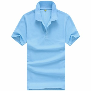Custom logo cheap basic men's polyester short sleeve plain polo tee shirt