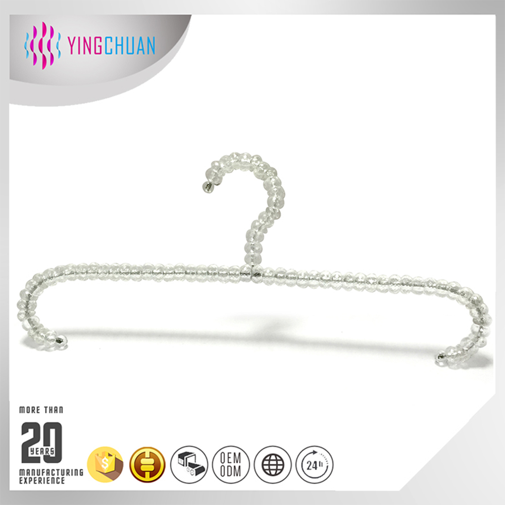Crystal acrylic pearl clothes hanger rack