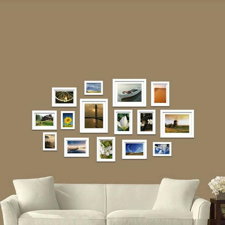 Bild Bilderrahmen Wand/tv Wand Mit Multi Bilderrahmen - Buy Product ...