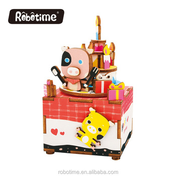 Robotime wooden puzzle toy AM309 Sweet Heart DIY music box