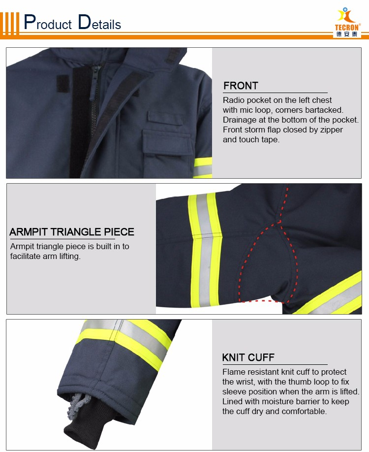 CE EN469 Fire suit, fire fighter & rescue clothing