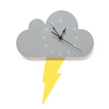 Laser Cut Kids Room Decor Cloud Wall Clock