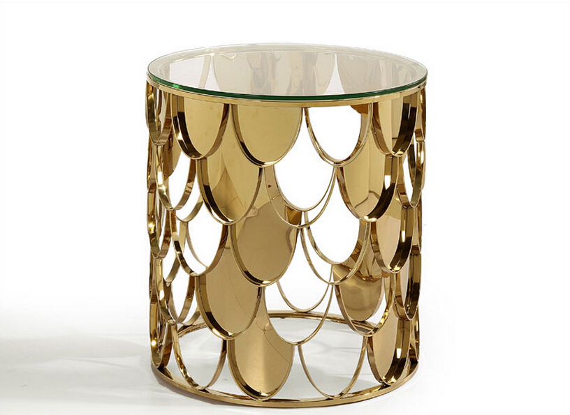 Sofa side table design gold coffee table glass