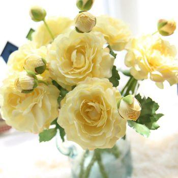 Flores Artificiales Al Por Mayor Y Rosa De Seda Falso Arco Iris