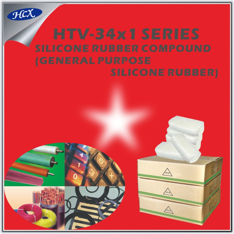 HTV-34x1 series Solid HTV silicone rubber compound high temperature mixed silicone rubber extrusion