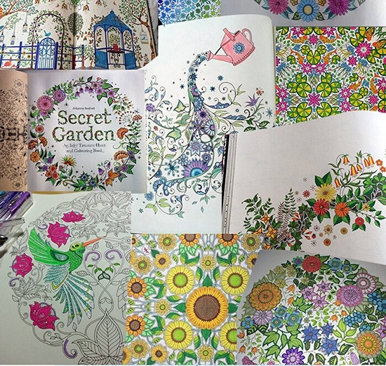 Coloring Book Secret Garden : Color pencils for painting drawing book secret garden coloring
