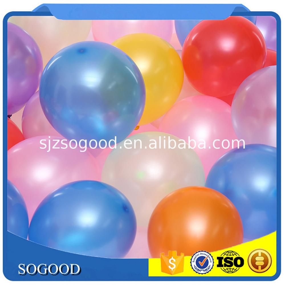 The Best China non toxic 9 inch metallic latex balloon for Party Decoration