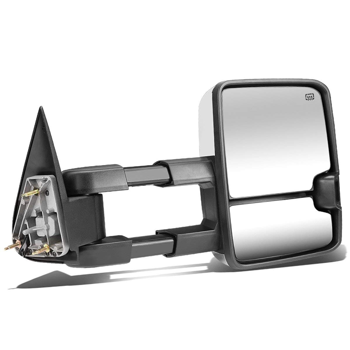For 03-06 Chevy//GMC Silverado//Sierra Tahoe//Yukon DNA Motoring TWM-015-T888-BK-SM Pair Powered Tow Mirrors