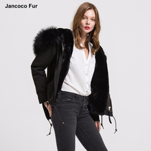 Women Real Fur Parka Detachable Faux Fur Lined Hooded Parker Top Quality Winter Big Collar Jacket Coats