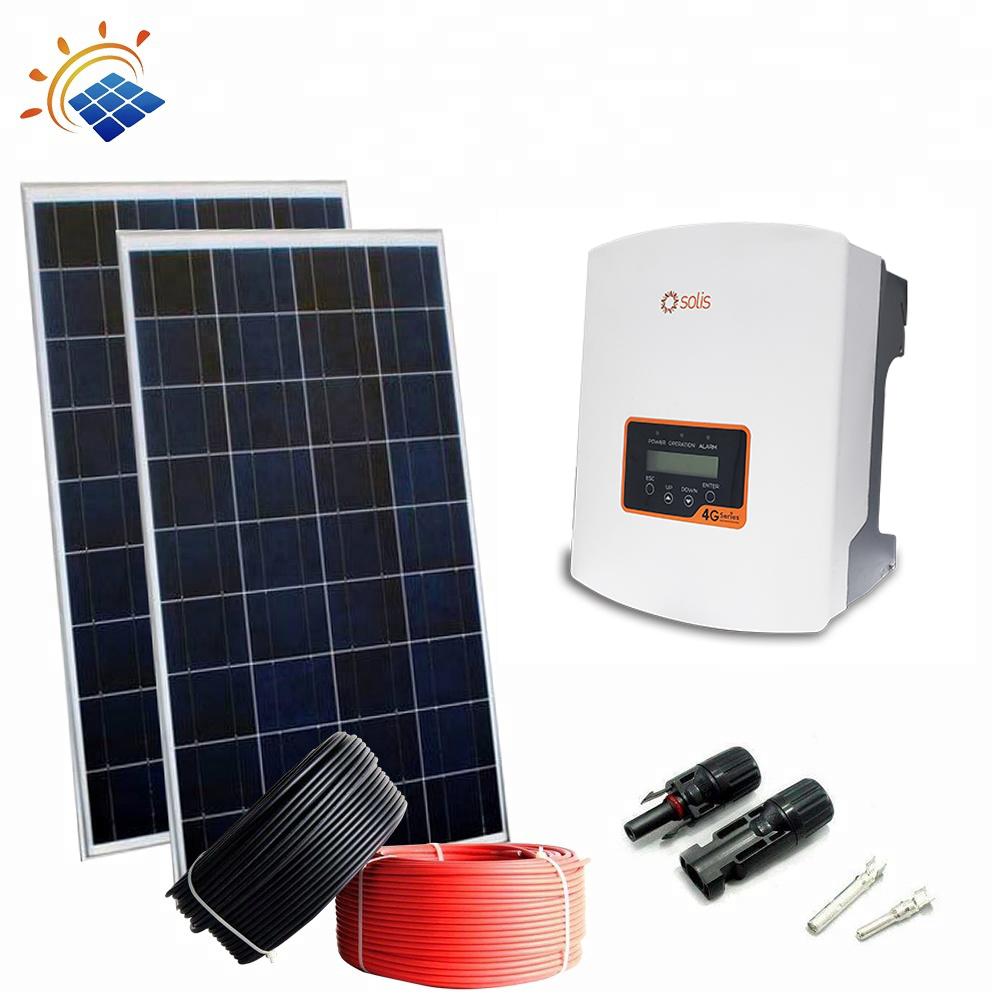 Top Design Solar Panel Price 1Kva Solar System for Lighting Gardening Home Use