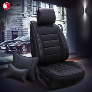 New Product ! Mcow Low Price Washable PU Leather Car Seat Covers Full Set