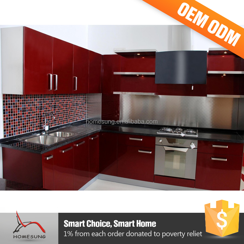 Red Kitchen Furniture High Gloss Red Kitchen Cabinet High Gloss Red Kitchen Cabinet