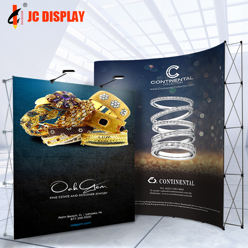 Promotion Stand Tension The Wall Fabric Pop Up Display