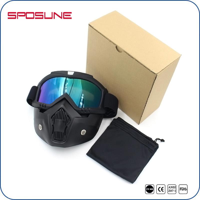 logas Motorcycle Glasses Riding Goggles Protective Anti UV Eyewear for Honda//Suzuki