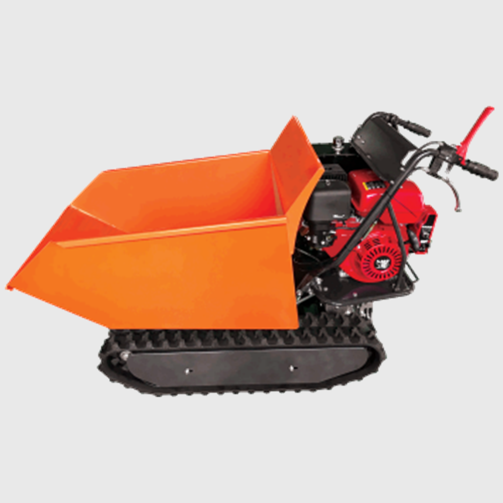compact track loader 500kgs rubber tracked gasoline mini dumper