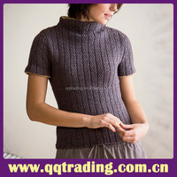 Color woolen warm 2015 wool cable knit diamond fashion garment