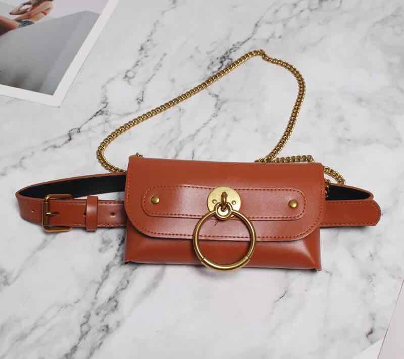 Leather Belt Fanny Pack With Removable Belt Waist Pouch Fashion Belt Bags