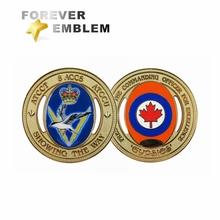 Chinese Suppliers Low MOQ Custom Gold Plated Military Challenge Coins