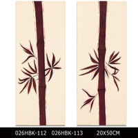 Artist Design Simple Image Canvas Bamboo Decorative Oil Painting On Canvas Printed Bamboo Painting For Wall Decorative