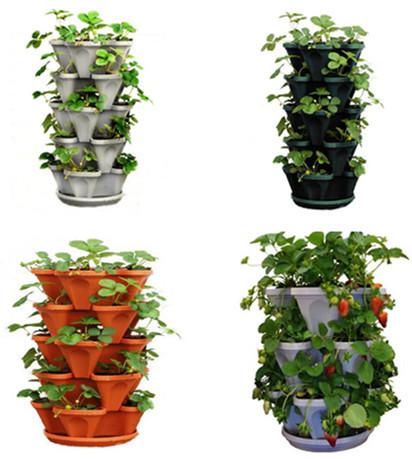 Extrêmement Tower Garden Plastic Stackable Flower Pots/ Planter - Buy Planter  IN37