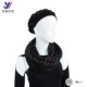 Fashion Design black beret scarf hat gloves sets with gold