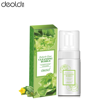 Private label potherb deep clear bubble  high quality cosmetics t best facial cleanser face liquid makeup remover