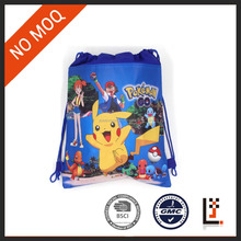 27*36 cm nonwoven pokemon pikachu drawstring backpack for kid