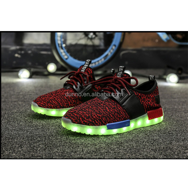 2017 Newest Design Fashion Men Women Children Sport Boost Men Shoes Led Shoes