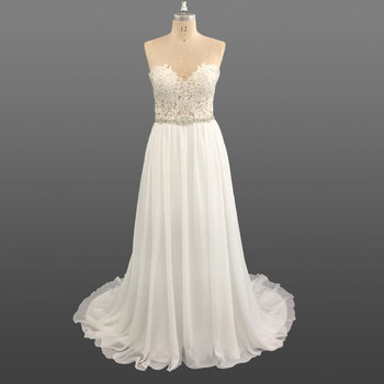 Beach Casual Wedding Dress Bridal Gown Ladies Pictures of Latest Gowns Designs Women Dresses
