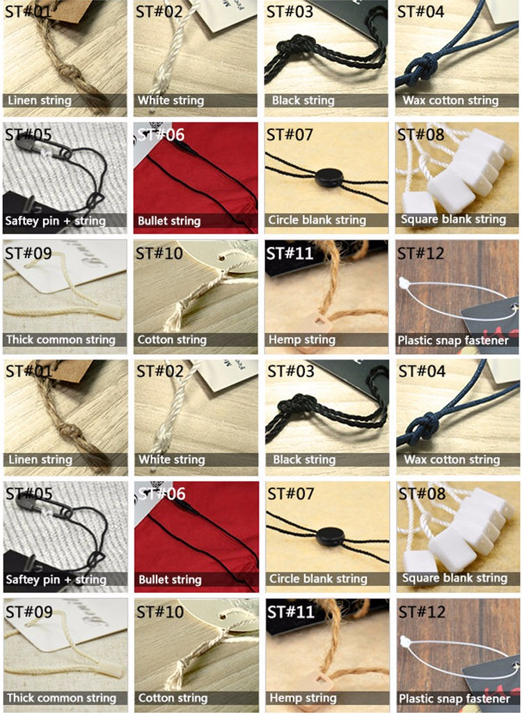 Hot selling Eco-friendly plastic hanging tag/price tag for clothing