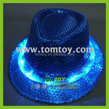 22397abae Fashion Colorful Led Fedora Hat Glow In The Dark Hat With 10leds - Buy Glow  In The Dark Hat Product on Alibaba.com