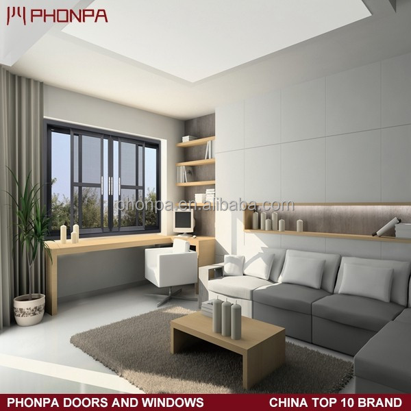 2016 PHONPA Aluminium vertical sliding window, sliding glass reception window, office sliding glass window
