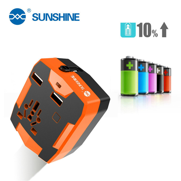 New Design 3 In 1 USB Charger Universal Travel Power Adapter With Power Bank