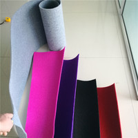 Laiwu Factory Pink Color Nonwoven Velour Fitness Club Carpet
