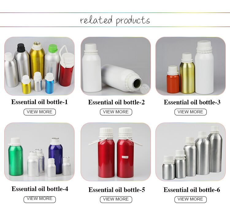 wholesale 30mL-1.2L different shapes clear colorful luxury decorative dropper empty aluminum essential oil bottles for sale