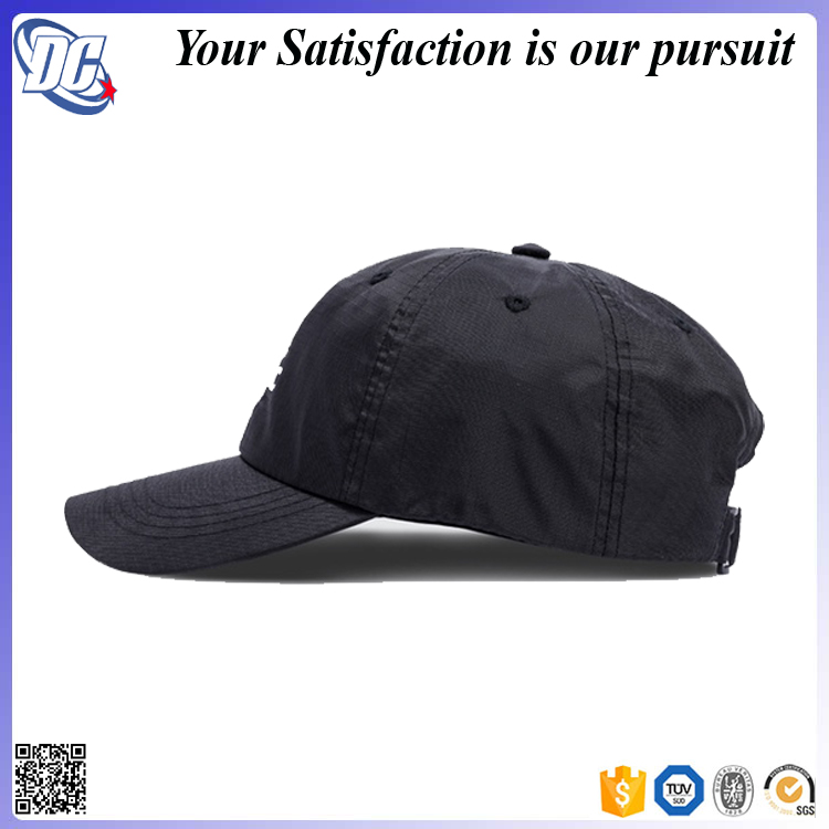 f1f08e07b6f Make Your Own Bestselling Black Nylon Custom Embroidery Dad Hat ...