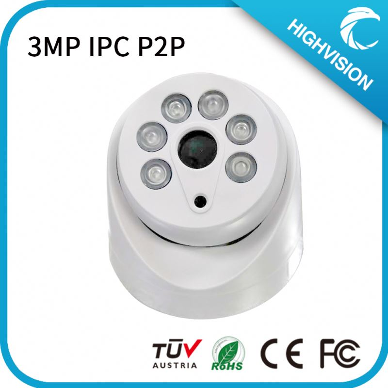 2mp3MP Indoor ir Dome IP Auto Back Focus ABF Camera 30m IR distanceIR-CUT built in