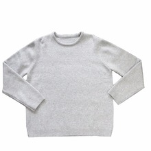 Custom Man Long Sleeve Nep Dot Yarn 5GG Pullover Basic OEM Knitted Sweater
