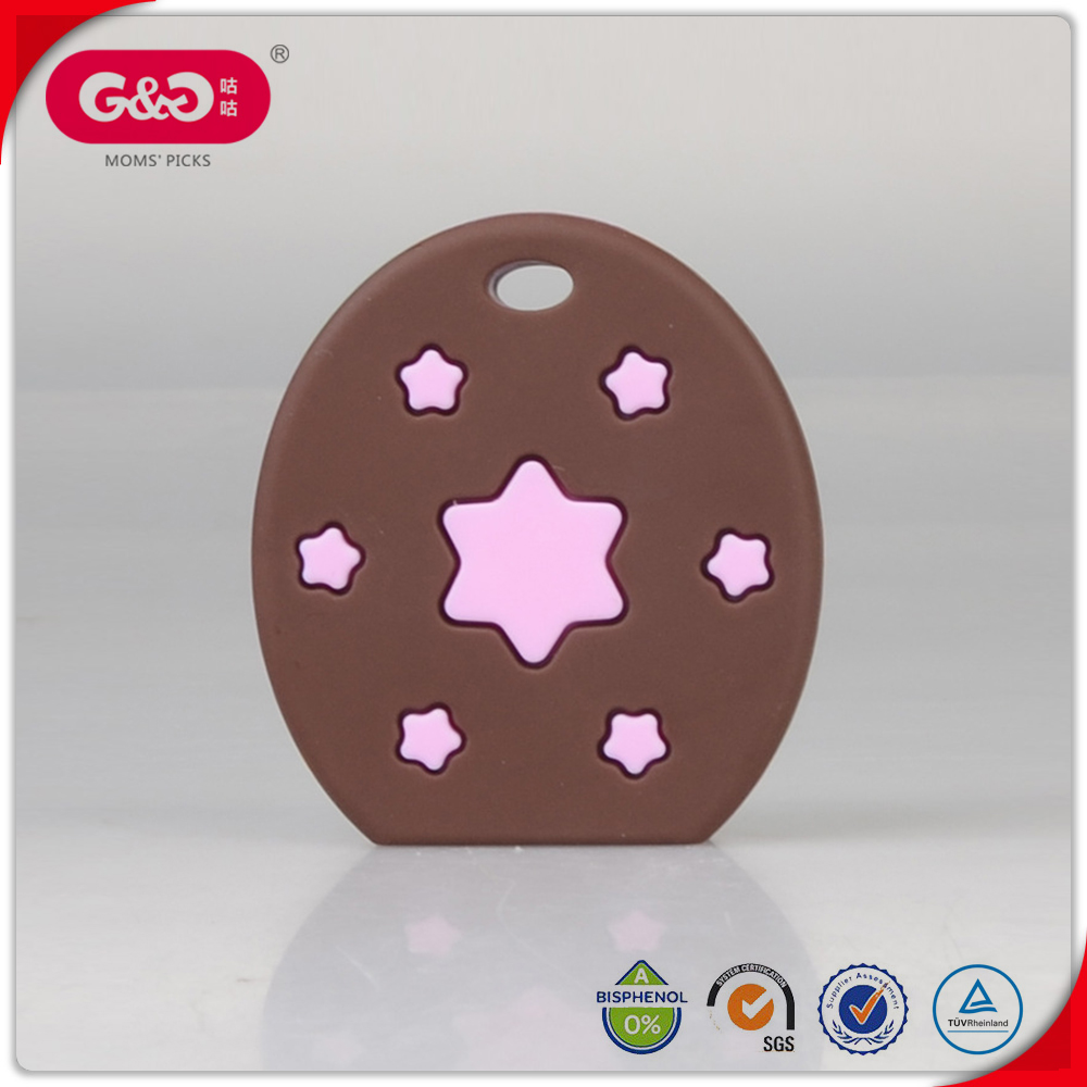 No odor Funny Star biscuit shape baby teether toy