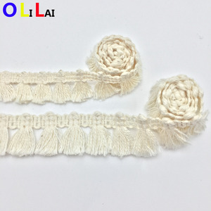 OLGT0425 2cm fashion white cotton eyelet crochet guipure lace for ladies dress