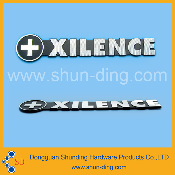 Custom Made In Mould Type Label Type 3D Raised Metal Logo