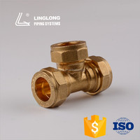 Hight quality copper pipes fitting 3-way equal tee