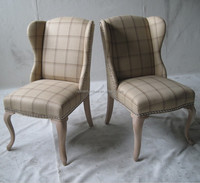 Popular in Norway Fabric Tufted Dining Chair with Ring-Pull
