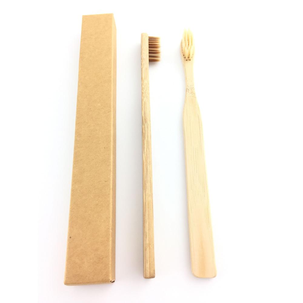 Biologisch afbreekbaar houtskool natuurlijke bamboe houten handvat hotel volwassen bamboe tandenborstel made in china