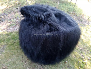 Swell Large Black Shaggy Faux Fur Long Fur Beanbag Cover Plush Bean Bag Chair 116Cm D Buy Xl Bean Bag Chairs Unfilled Bean Bag Chairs Cool Bean Bag Squirreltailoven Fun Painted Chair Ideas Images Squirreltailovenorg