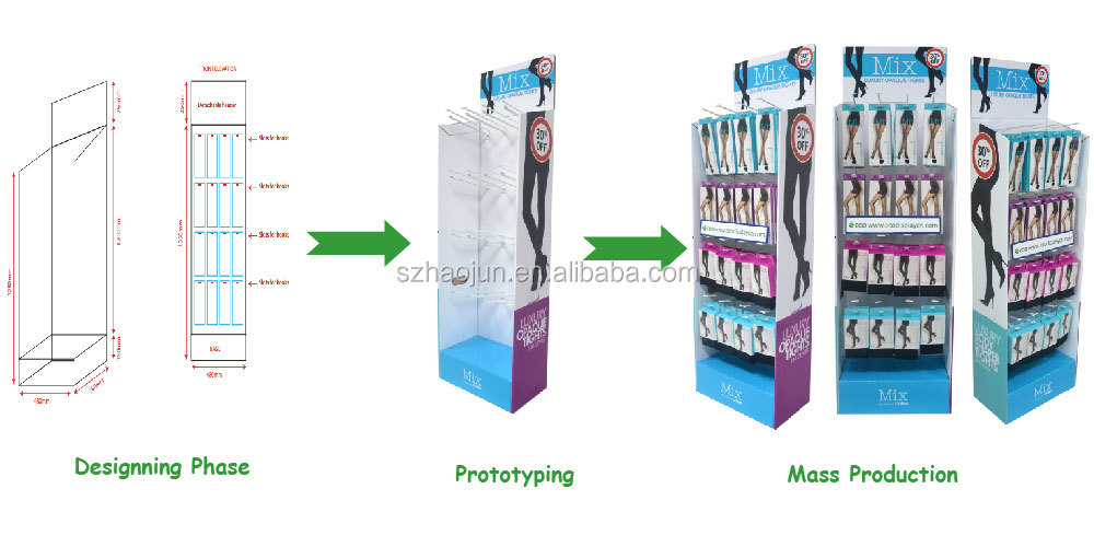 Zsj-a28 Convenience Store Watch Cardboard Display,Corrugated ...