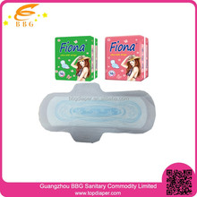 breathable super absorbable disposable cotton sanitary napkin for lady pad made in china factory