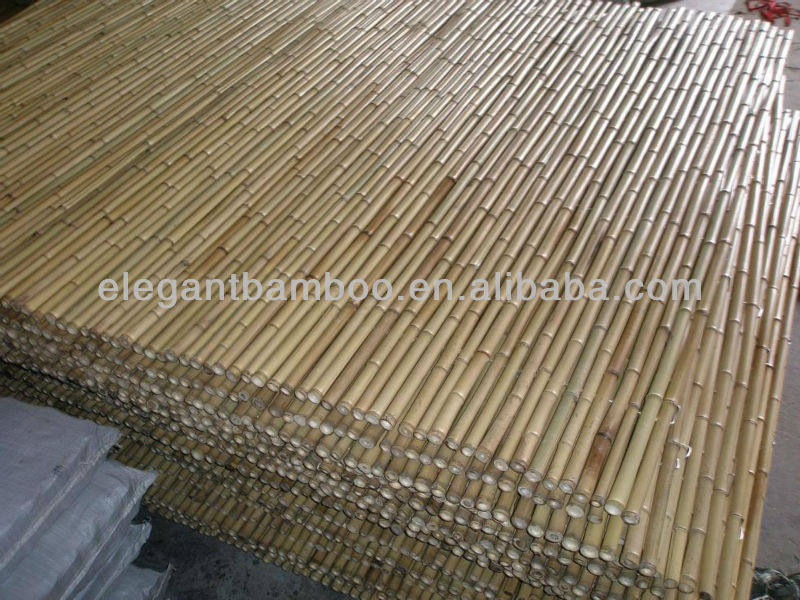Bamboo Fence Garden Fencing Panel With Natural Black