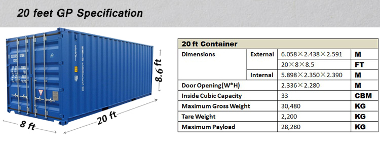 Iso 20ft container new condition csc plated mgw 30ton for 30 foot shipping container